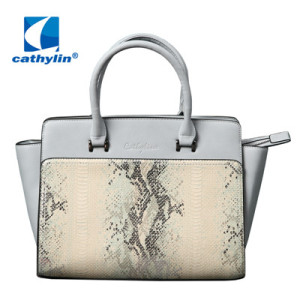 Good quality PU leather tote shoulder handbag women bag