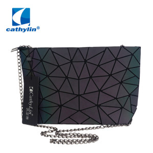 Cathylin Womens PU Leather Geometric Split Joint Plaid Shoulder Tote Bags