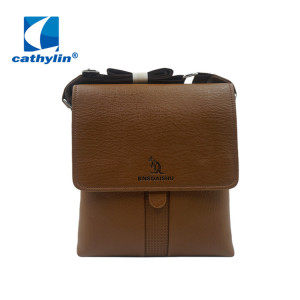 Men's PU leather Messenger Shoulder Bag
