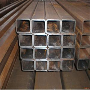 hollow section welded black metal steel tube