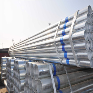 construction materials q235b q345b zinc coated 3.5 inch steel pipe price
