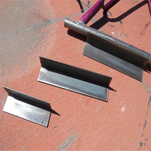 black construction angle iron
