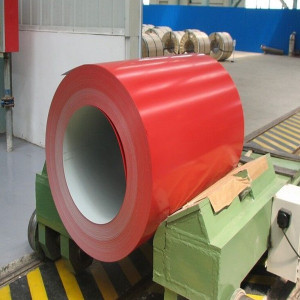 Glossy Red Prepainted Galvanised Coil Galvanised Composite Panel