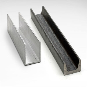 SS400/Q235/Q345 grade hot rolled C channel U channel iron steel beam 100x50x5.0mm