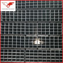 Plain   Pipe ends 75 x 150 mm q235 rectangular steel tube