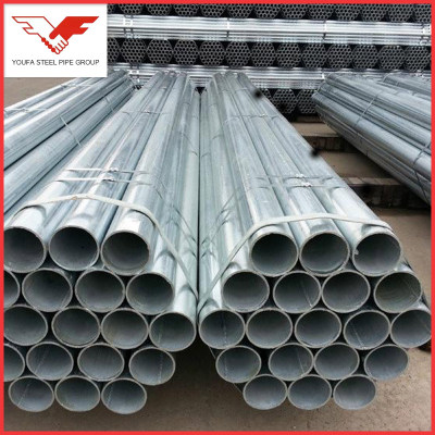 High performance EN 10255 BS 1387 hot dipped galvanized rigid steel conduit pipe