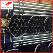 Galvanized zinc coated erw ms steel pipe With hydraulic testing
