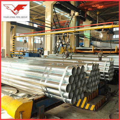 Hot dip galvanized erw carbon steel pipes  for  scaffolding
