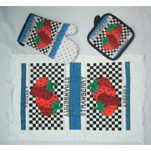 kitchen towel 3pcs kitchen sets