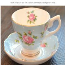 European afternoon tea cup