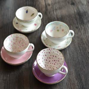 欧洲的骨瓷咖啡杯