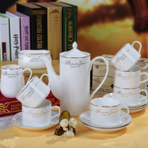 15 European bone china coffee cup set
