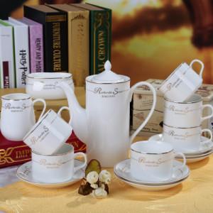 15 European bone china coffee cup set