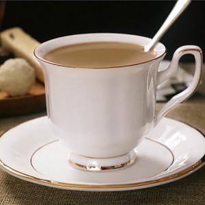 镀金的一面,咖啡杯,杯碟