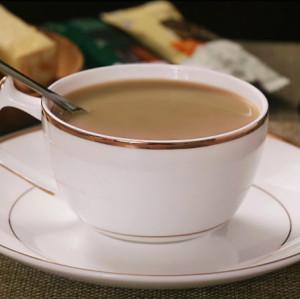 欧洲风格简约骨瓷咖啡杯与杯子和茶碟