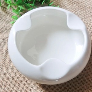 Bone china white Creative ashtray