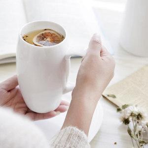 White female ceramic bulk simple mug