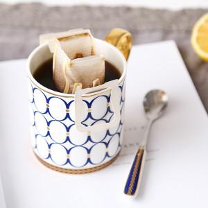 Gilt edge European style coffee mug