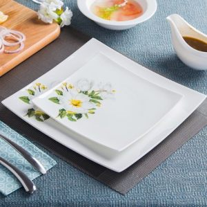 Porcelain,Square steak dishes,dinner plate