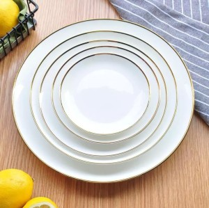 Porcelain dinner plates Western-style food steak dishes