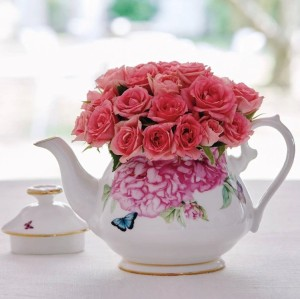 English-style porcelain afternoon tea pot