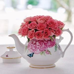 English-style porcelain afternoon tea pot
