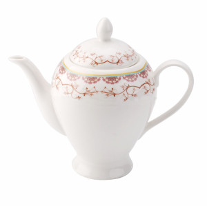 Porcelain, tea pot,pink flower tea pot