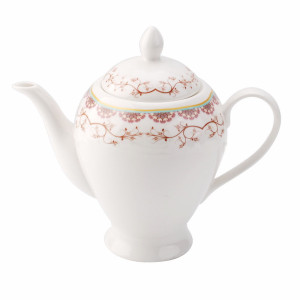 Porcelain, tea pot,pink flower tea pot