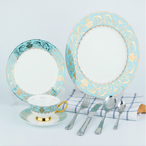 wholesale ceramic porcelain dishes set