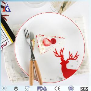 Ceramic dinner plate for Christmas,dinner plates set of four pcs