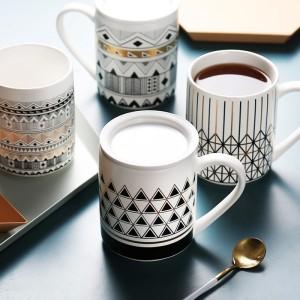 Geometric elements ceramic mug