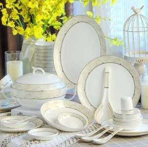 Fine bone china tableware set