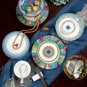 Western bone china tableware set