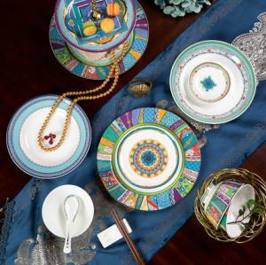 Western bone china tableware set