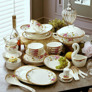 High-grade bone china tableware set