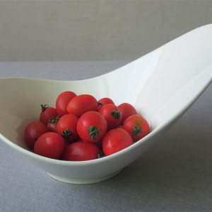 Bone Porcelain Shaped Bowl
