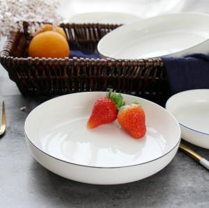 Home round creative ceramic dinner plates