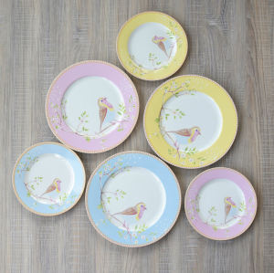 European ceramic snack plate