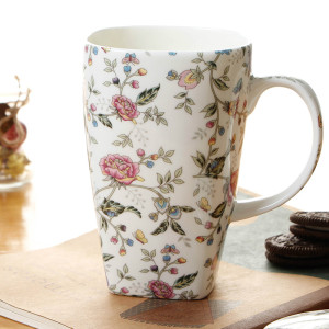 Ceramic large size bone china mugs