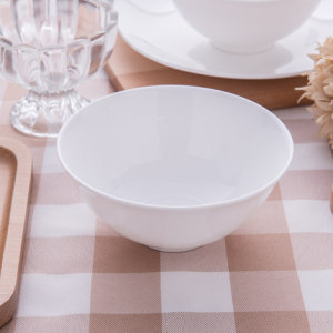 Pure white home-style 5-inch bowl