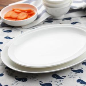 Tangshan grade pure white dinner plate