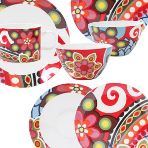 Exports of French bone china tableware