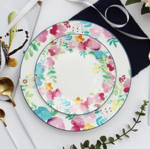 Garden floral ceramic dish