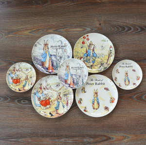 cartoon moonlight dinner plate