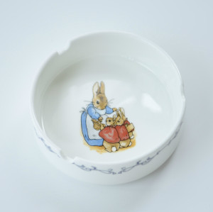 European ceramic ashtray