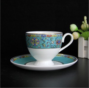 bone chine coffee cup and saucer
