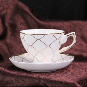 ceramic coffee cups and saucers set