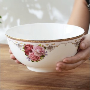 Bone china 8 inch soup bowl