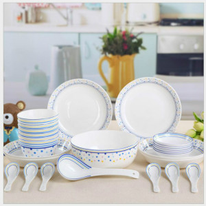 Tangshan bone china 28 pieces set