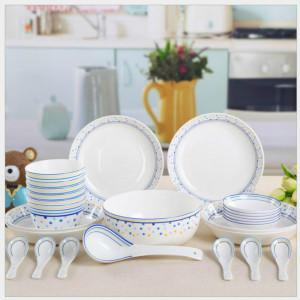 Tangshan bone china 28 pieces set